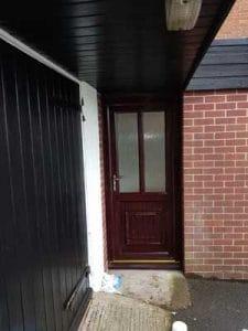 uPVC Spraying in Heanor Derbyshire - Front Door Before
