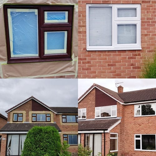 on sale e55ea f6978 uPVC Spraying Derby | Old Brown uPVC Sprayed White ...