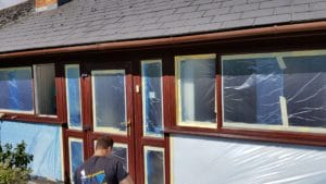 window spraying