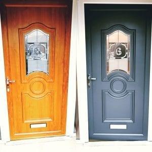 uPVC Door Spraying