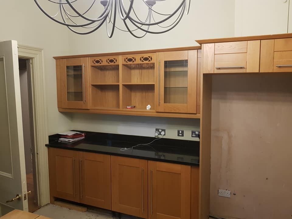Professional Spray Painting Kitchen Cabinets Grey