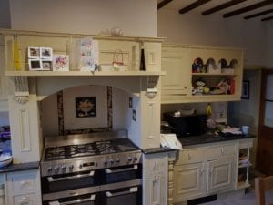 Porfessional spray painting kitchen cabinets dronfield