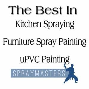 spray painting kitchen units