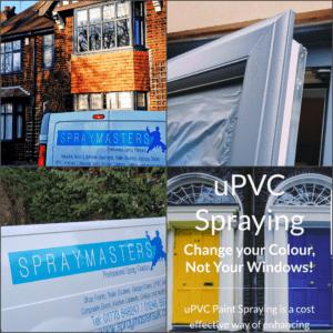 Sprayed Pvcu windows