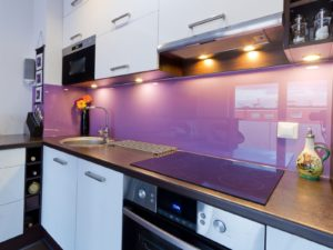 glass splash backs sprayed