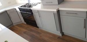 Kitchen cabinet spraying coal aston