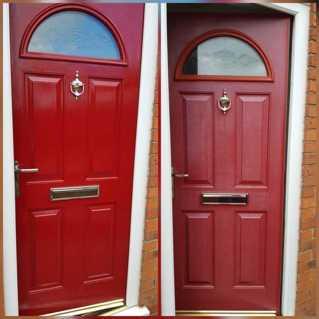 Composite Door Spraying Smalley