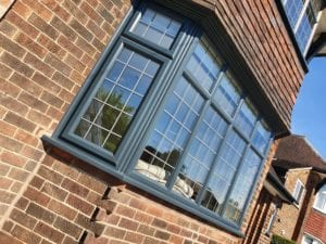 Anthracite grey upvc windows