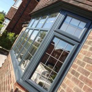 upvc windows & Doors spray painted