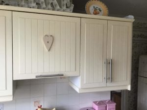 Kitchen Cabinet Spray Painting