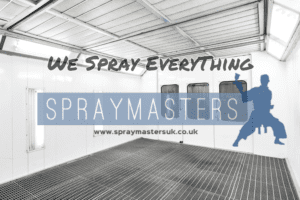 Static caravan spray painting