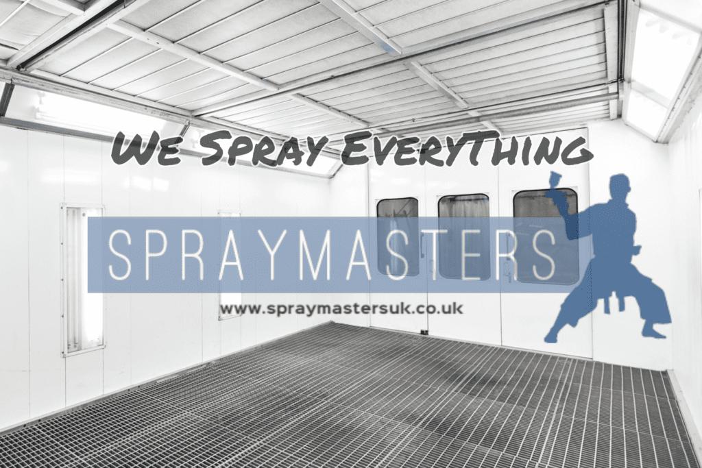 Static caravan spray painting