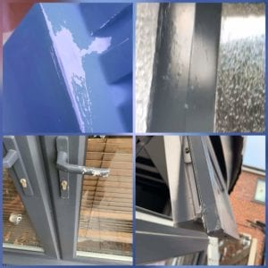 Poor upvc spraying