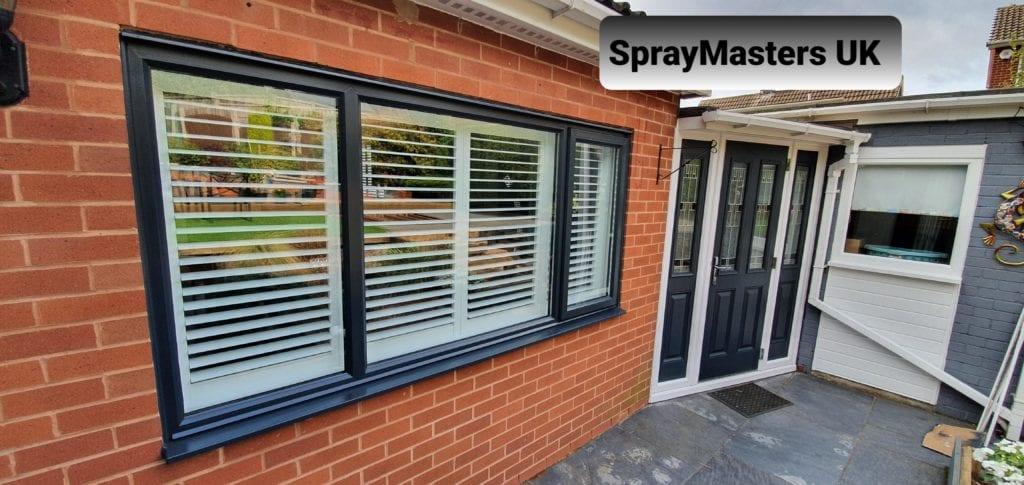 uPVC Window Spraying