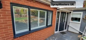 uPVC Window Spraying